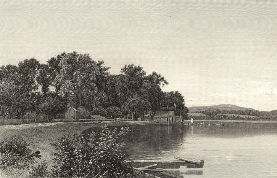 Associate Product NEW YORK. Mouth of the Moodna Creek, on the Hudson 1874 old antique print