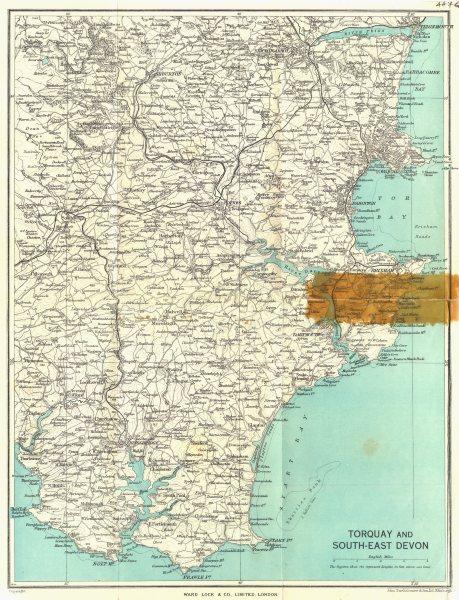 Associate Product SOUTH-EAST DEVON. Torquay Salcombe Brixham Paignton. WARD LOCK 1952 old map