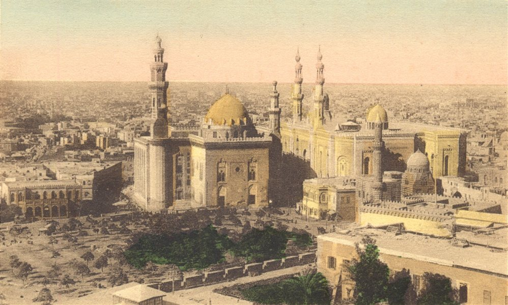 Associate Product EGYPT. Cairo. General view with the Mosques of Sultan Hassan & El-Rifai. 1900