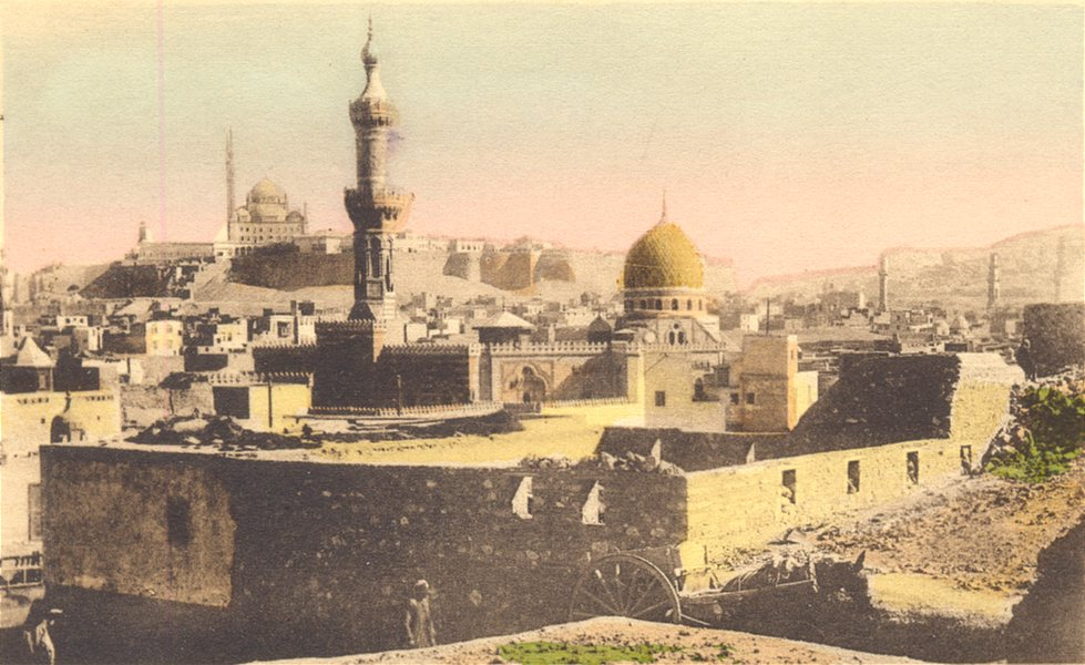Associate Product EGYPT. Cairo. At the Environs of the Moslem Necropolis. Hand coloured. 1900