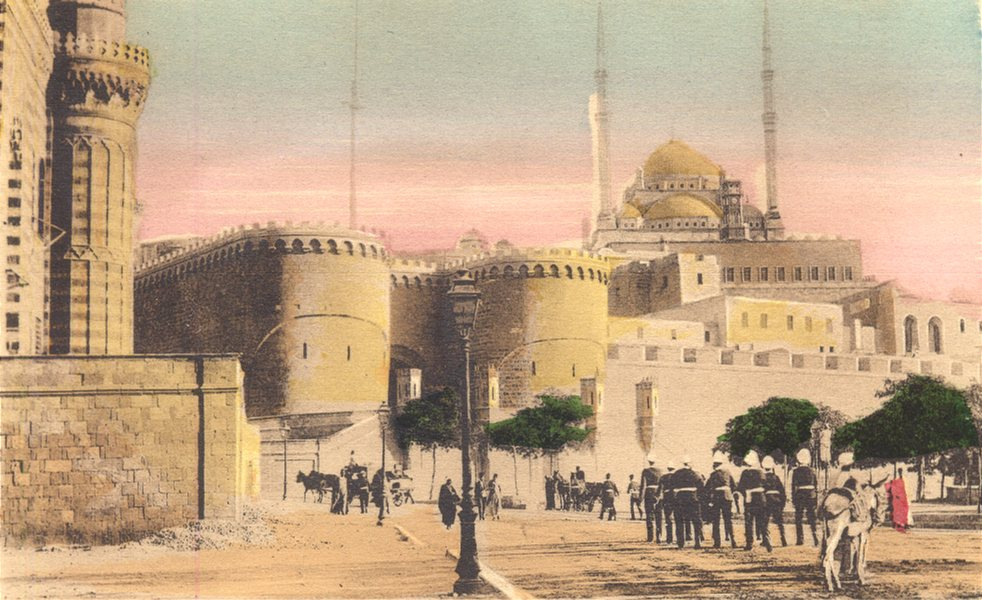Associate Product EGYPT. Cairo. The Entrance of the Citadel. Hand coloured. 1900 old print