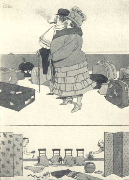 Associate Product HEATH ROBINSON. How to evade customs when travelling on the Continent.SMALL 1935