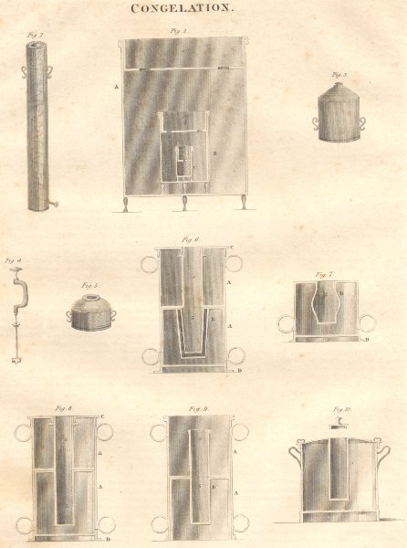 Associate Product SCIENCE. Congelation. (Oxford Encyclopaedia) 1830 old antique print picture