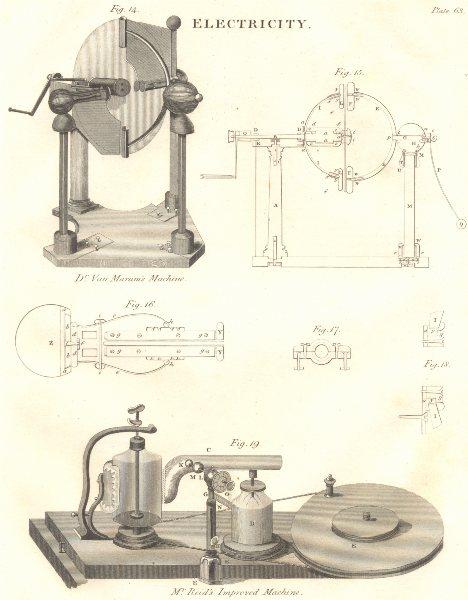 Associate Product SCIENCE. Electricity. Dr Van Marum's Machine; Dr Reid's Improved Machine 1830