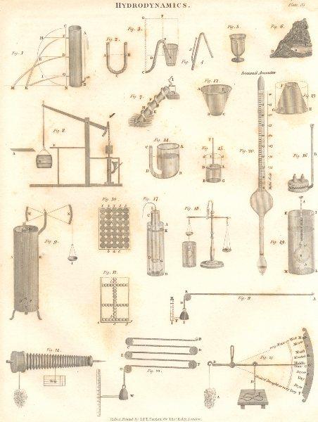Associate Product SCIENCE. Hydrodynamics apparatus. (Oxford Encyclopaedia) 1830 old print