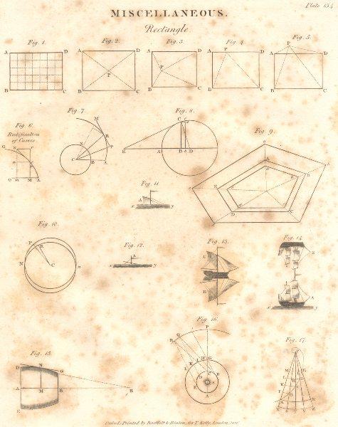 Associate Product MATHEMATICS. Miscellaneous. Rectangle. (Oxford Encyclopaedia) 1830 old print