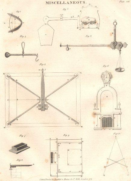 Associate Product ENGINEERING. Miscellaneous. Parabola. Balance. (Oxford Encyclopaedia) 1830