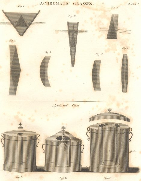 Associate Product SCIENCE. Achromatic Glasses; Artificial Cold-refrigeration 1830 print