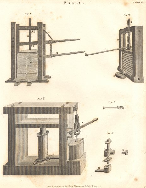 Associate Product SCIENCE. Press. (Oxford Encyclopaedia) 1830 old antique vintage print picture