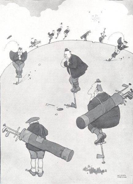 Associate Product HEATH ROBINSON GOLF CARTOON. Pogo Golf for 18-hole courses 1975 old print