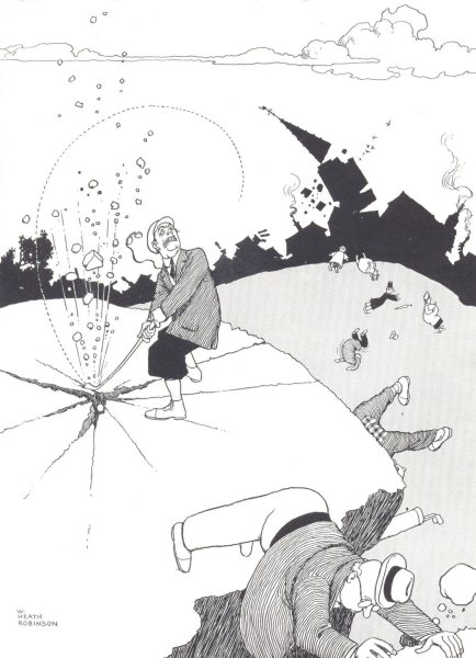 Associate Product HEATH ROBINSON GOLF CARTOON. Too much vim 1975 old vintage print picture