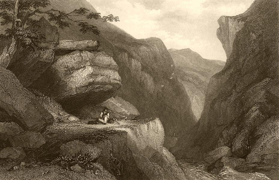 Associate Product PIEDMONT/PIEMONTE. The barricade of Pradeltorno. Traveller 1838 old print