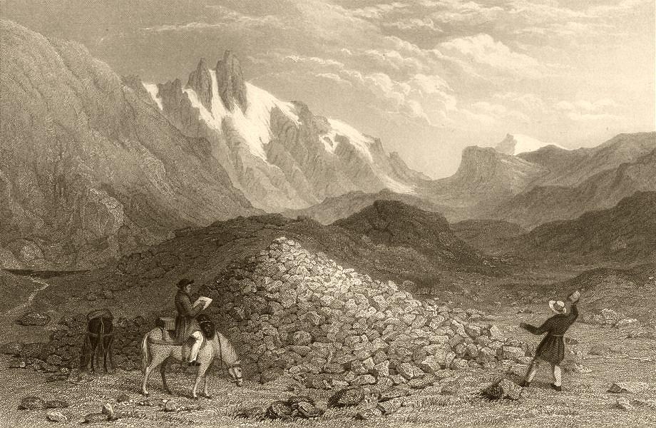 Associate Product SAVOIE. The Col de Bon Homme. Donkey. Alps. 1838 old antique print picture