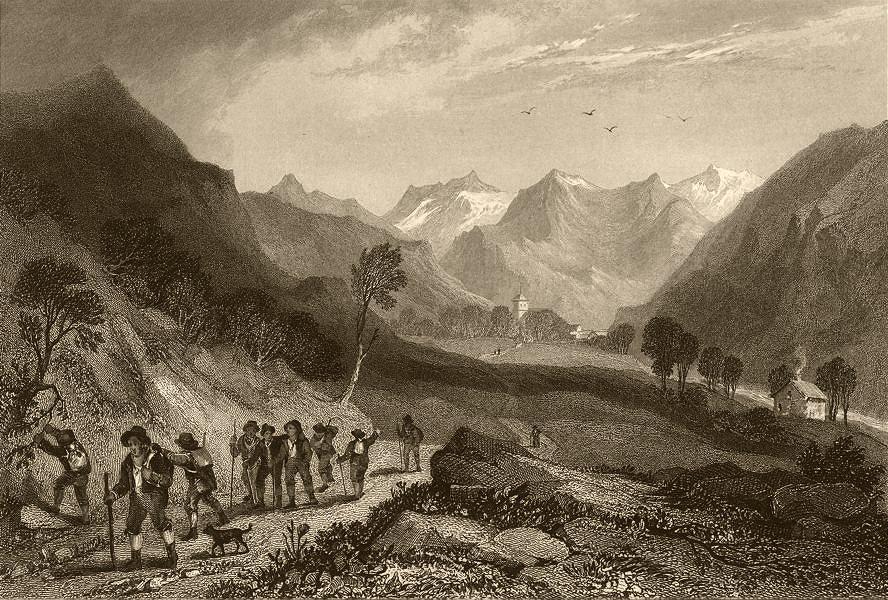 Associate Product SAVOIE. View of Séez (Val d'Isere) . Travellers 1838 old antique print picture