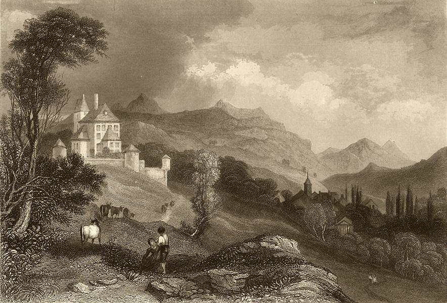 Associate Product HAUTE-SAVOIE. St. Joire. Oxen. FINDEN 1838 old antique vintage print picture