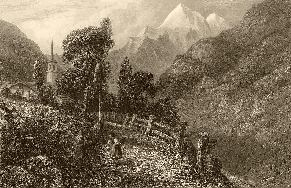Associate Product SAVOIE. View of Saint-Foy (Foi) . Church 1838 old antique print picture