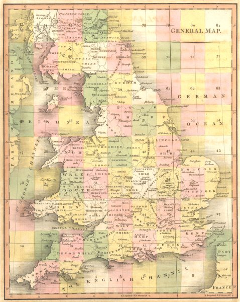 Associate Product UNITED KINGDOM. England & Wales General Index Map. CARY 1794 old antique