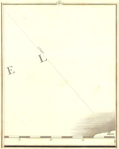 Associate Product SEINE-MARITIME. The English Channel Section 8. Manche. Dieppe. CARY 1794 map