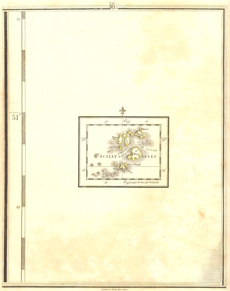 Associate Product ISLES OF SCILLY. St Mary's St Martin's St Agnes Tresco Bryher. CARY 1794 map