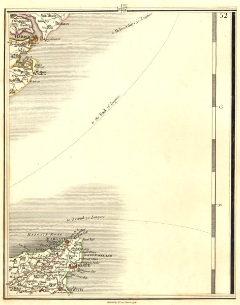 Associate Product ISLE OF THANET & HAVEN PORTS. Margate Ramsgate Felistowe Harwich. CARY 1794 map