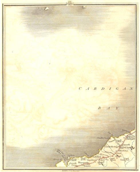 Associate Product CARDIGAN BAY. Aberporth New Quay Llanarth Aberaeron Penbryn. CARY 1794 old map