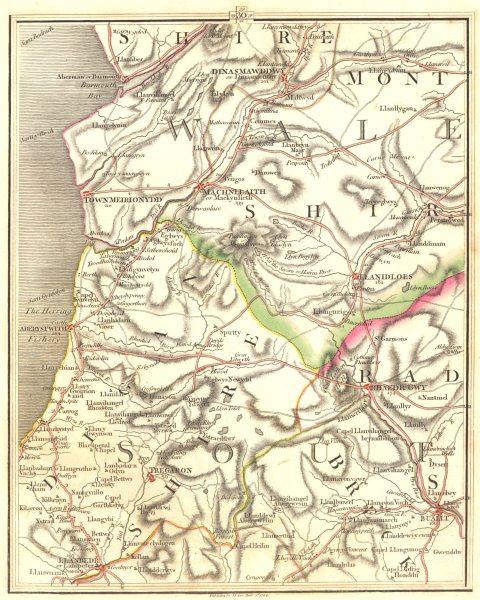 Associate Product CAMBRIAN MOUNTAINS. Aberystwyth Aberdovey Rhayader Machynlleth. CARY 1794 map