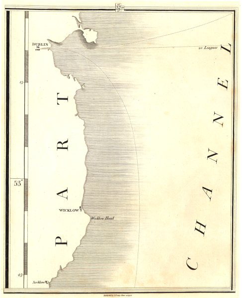 Associate Product IRELAND EAST COAST. Wicklow, Dublin, Arklow, St George's Channel. CARY 1794 map