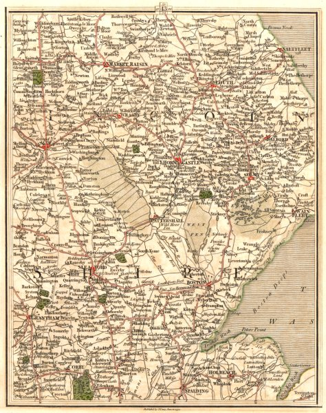 Associate Product LINCOLNSHIRE.Fens Lincoln Grantham Boston Spalding Louth Sleaford.CARY 1794 map