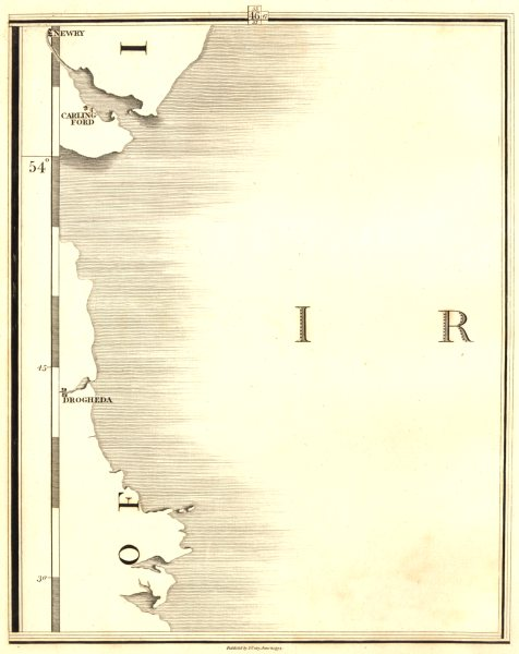Associate Product IRELAND EAST COAST. Newry, Carlingford, Drogheda. CARY 1794 old antique map