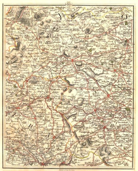 Associate Product EAST LANCASHIRE/W YORKSHIRE.Manchester Bradford Blackburn Halifax.CARY 1794 map