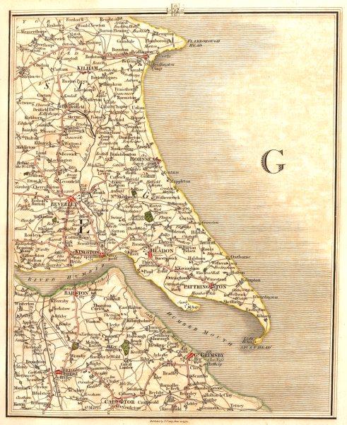 Associate Product HUMBER ESTUARY. Yorks Lincs Beverley Kingston Hull Barton Grimsby. CARY 1794 map