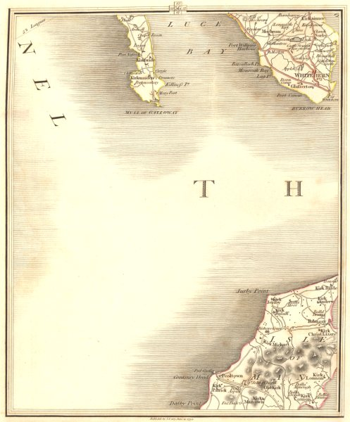 Associate Product ISLE OF MAN N & GALLOWAY. Ramsay Peel Luce Bay Whitehorn Machars. CARY 1794 map