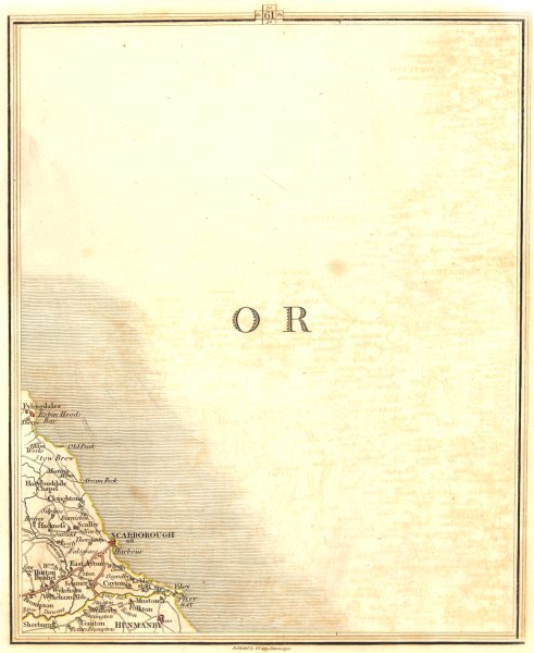 Associate Product NORTH YORKSHIRE COAST.Scarborough Hunmanby Filey East Ayton Cayton.CARY 1794 map