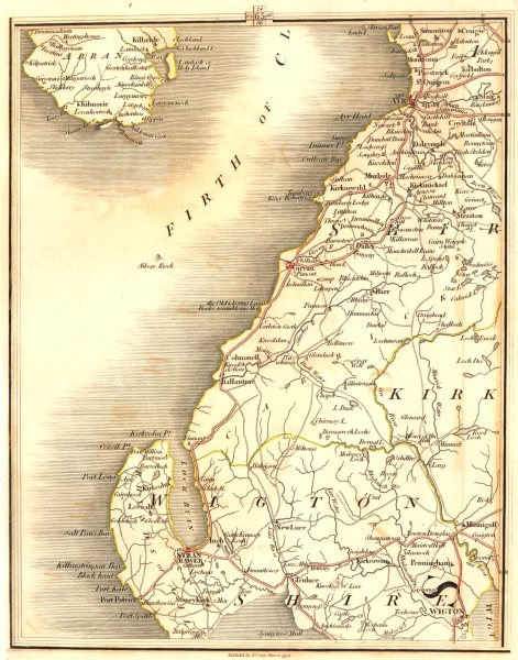 Associate Product FIRTH OF CLYDE. Ayrshire Wigtonshire Ayr Stranraer Wigton. CARY 1794 old map