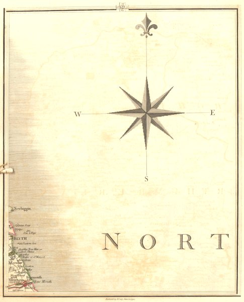 Associate Product TYNEMOUTH. Northumbria. North South Shields Whitley Bay Blyth. CARY 1794 map