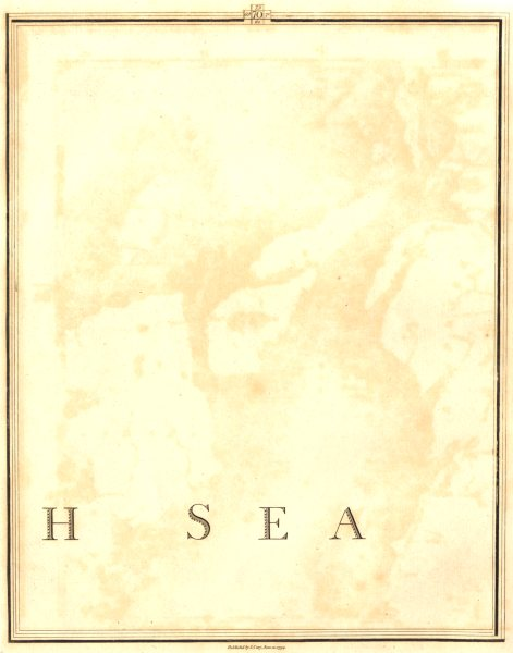 Associate Product NORTH SEA. German Ocean. Section 70. CARY 1794 old antique map plan chart