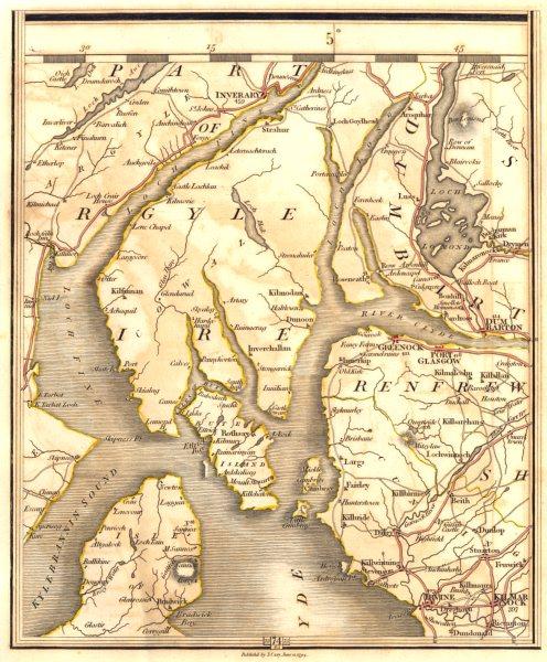 Associate Product STRATHCLYDE.Loch Lomond Kilmarnock Greenock Irvine Clyde Muirshiel.CARY 1794 map