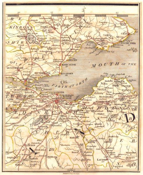 Associate Product FIRTH OF FORTH. Fife & Lothian. Edinburgh Dunfermline Leith Crail. CARY 1794 map