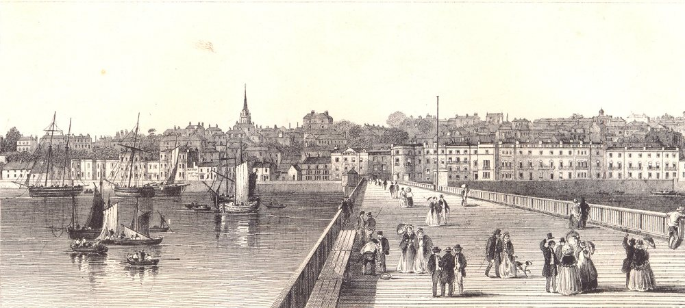 Associate Product ISLE OF WIGHT. Ryde from the Pier. Busy scene. Sailing boats 1864 old print