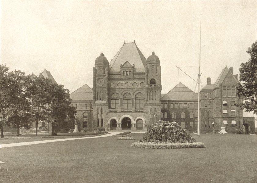 Associate Product TORONTO. Ontario Parliament Buildings – Queen's Park 1900 old antique print
