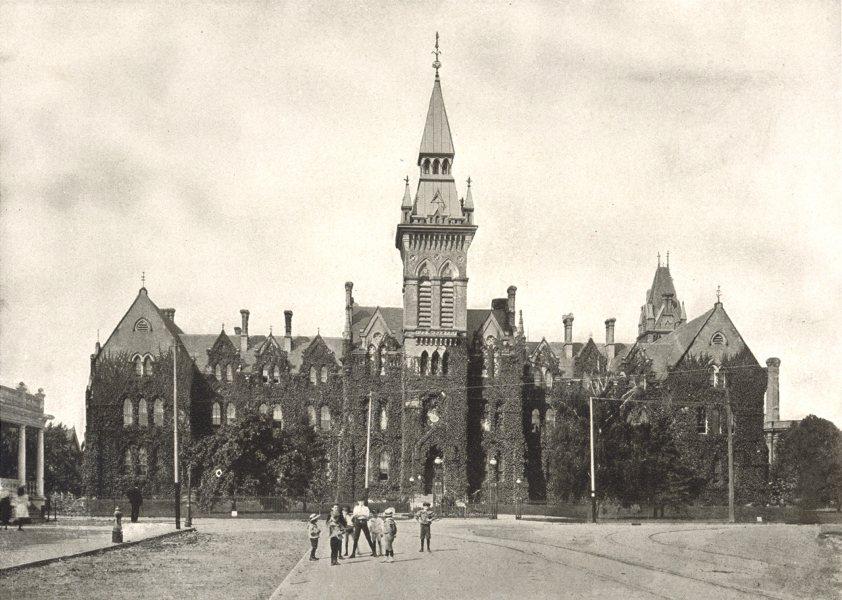 Associate Product TORONTO. Knox College – Spadina Avenue. (Presbyterian) 1900 old antique print