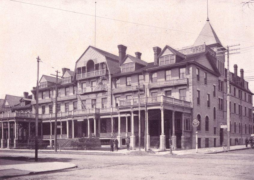 Associate Product TORONTO. Arlington Hotel – Corner of King and John Streets 1900 old print
