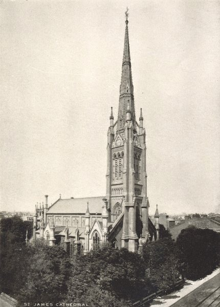 Associate Product TORONTO. St. James Cathedral – King Street, East. Episcopal 1900 old print