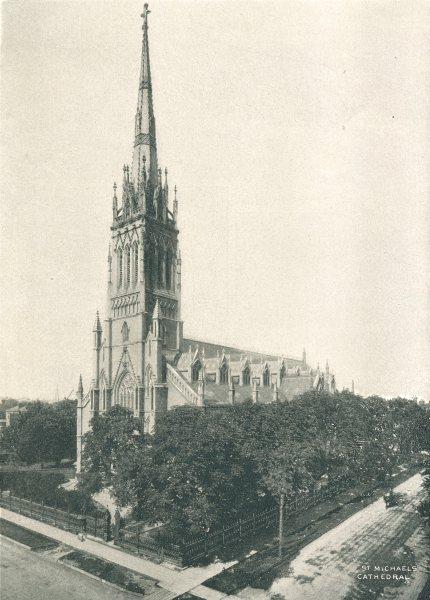 Associate Product TORONTO. St. Michael's Cathedral – Bond Street. (Roman Catholic) 1900 print