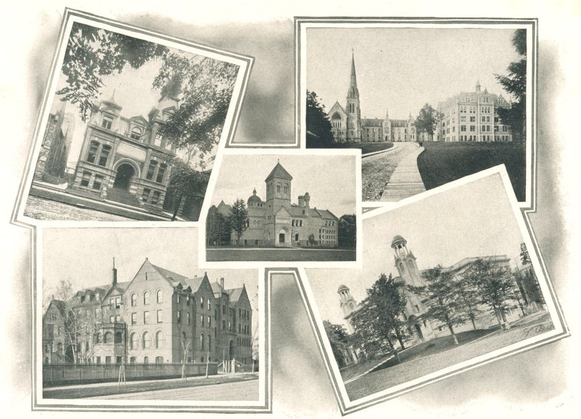 Associate Product TORONTO COLLEGES. Pharmacy. St. Michael's. Uni Library. Wycliffe. Medical. 1900