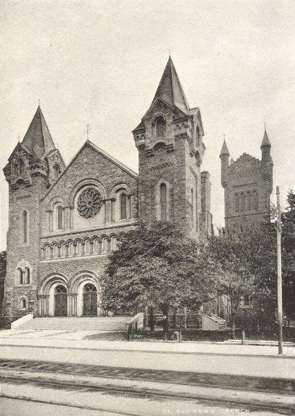 Associate Product TORONTO. St. Andrew's Church – King Street, West. (Presbyterian) 1900 print