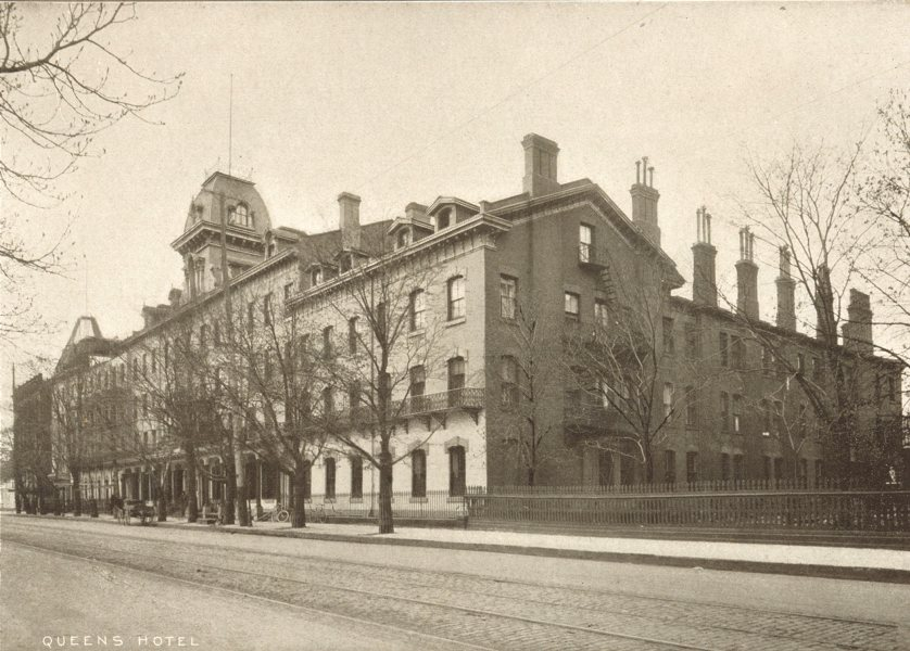 Associate Product TORONTO. Queen's Hotel – Front Street, West 1900 old antique print picture