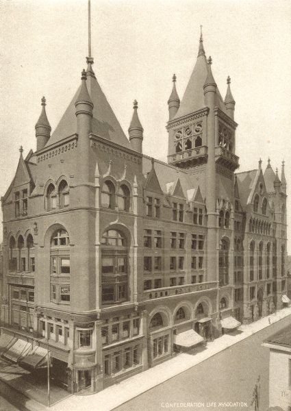 Associate Product TORONTO. Confederation Life Association building, Yonge & Richmond St 1900