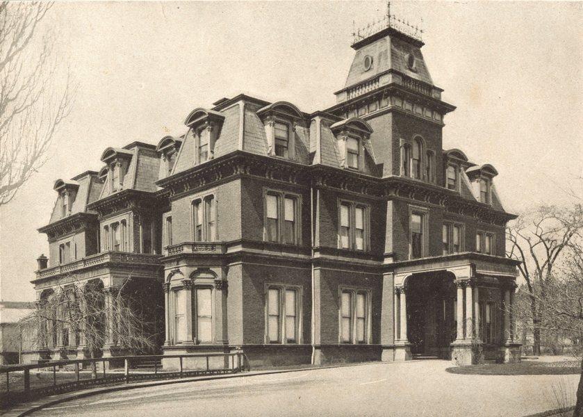 Associate Product TORONTO. Government House – Simcoe Street. Ontario Lt-Gov Residence 1900 print