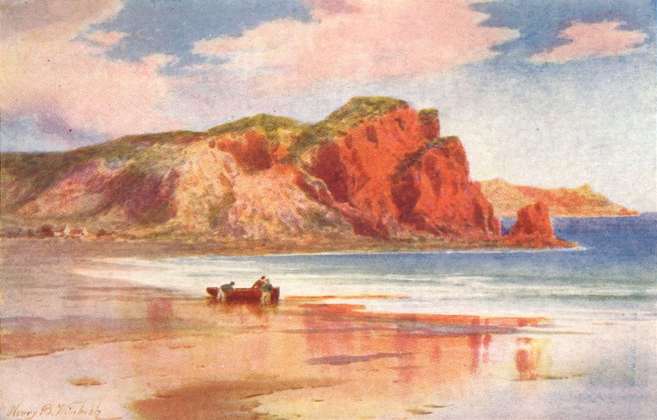 Associate Product CHANNEL ISLANDS. La Cotte Point, St. Brelade's Bay, Jersey 1904 old print